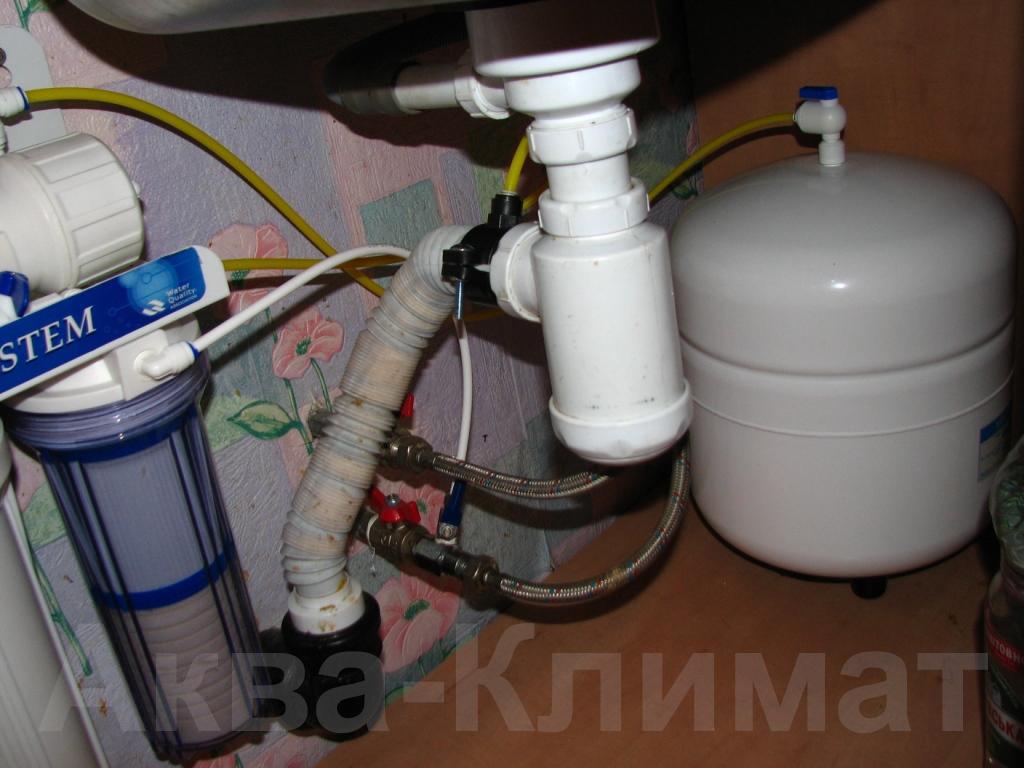 Установка фильтра для воды под мойку своими руками 60