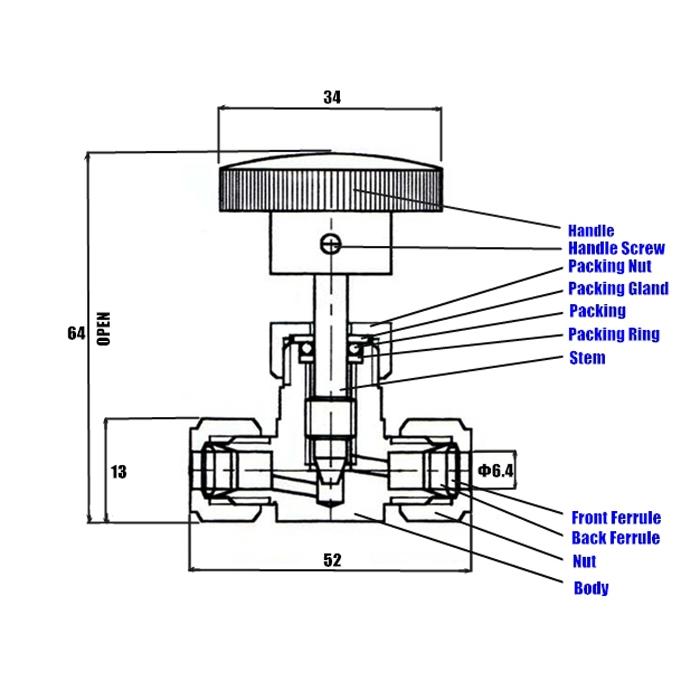 Игольчатый вентиль Organic (Jaco) - 3