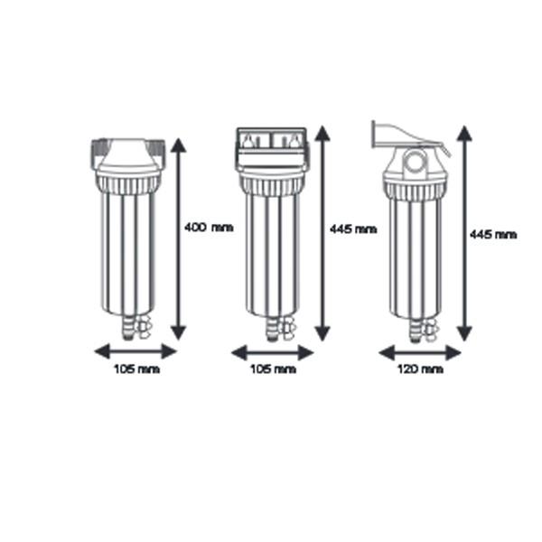 Промывной корпус Aquafilter FHPR1-3V R - 2