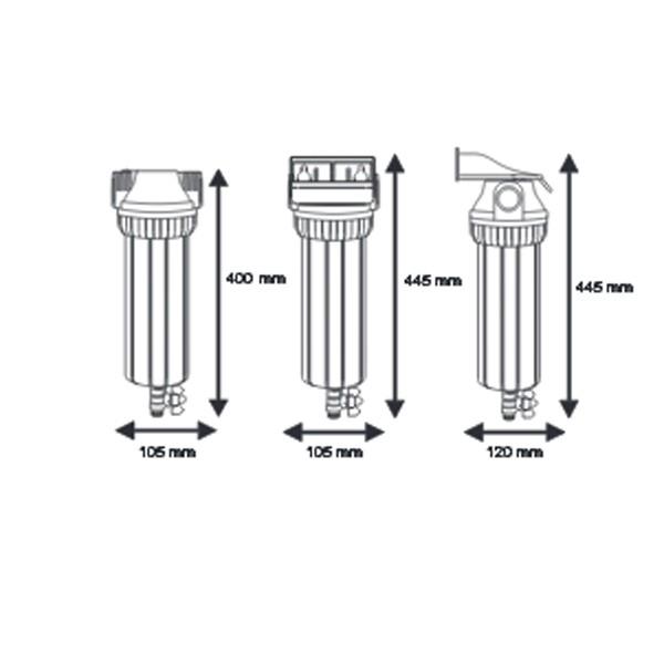 Промывной корпус Aquafilter FHPR12-3V R - 2