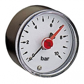 Фронтальный манометр 10 bar (с контрольной стрелкой)
