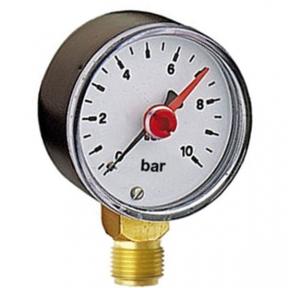 Манометр 10 bar (с контрольной стрелкой)
